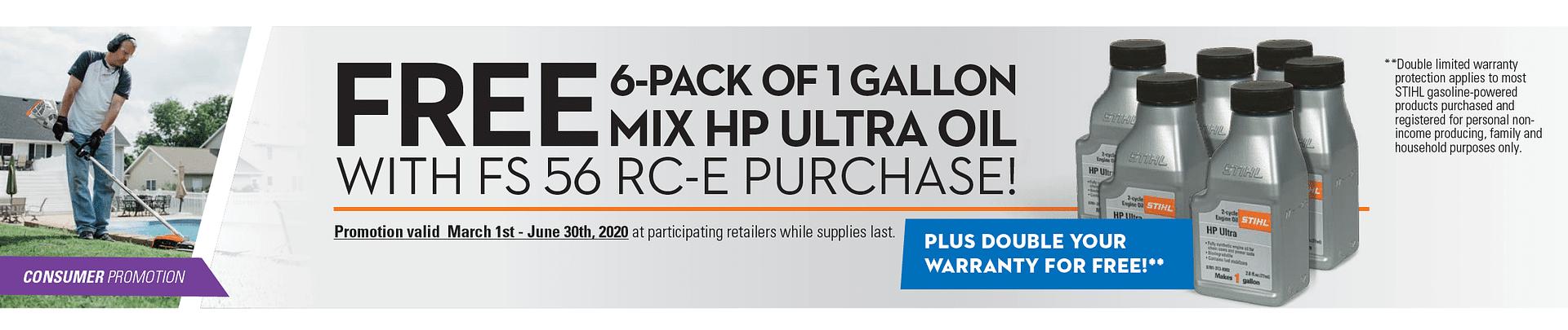 STIHL Free HP Ultra Oil with FS 56 RC-E