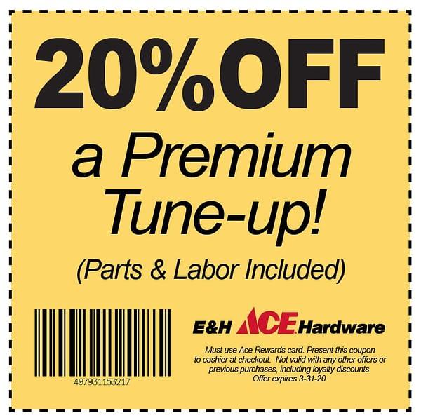 20% OFF a Premium Tune-Up